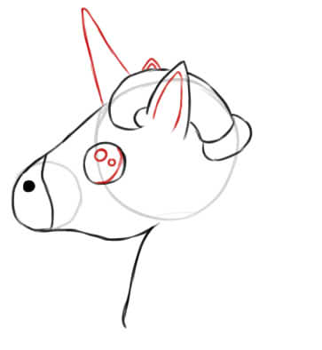 Unicorn Head Drawing - How to draw a unicorn