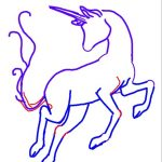 Unicorns How To Draw - How to draw a unicorn with pencils in stages