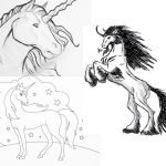 Unicorns To Draw - Unicorn pencil drawing